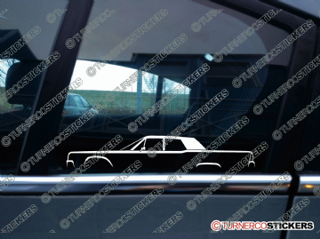 2x Classic Car Silhouette sticker - Lincoln Continental 4-door sedan 1961-1969 4th generation